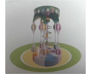 Карусель Пальма с двойным шаром