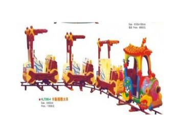 паровозик на рельсах HL7066-4