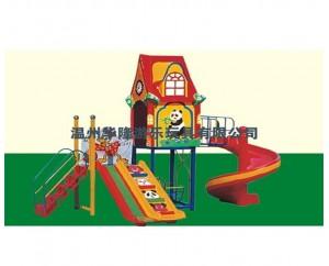 Детская игровая площадка с горкой качелей