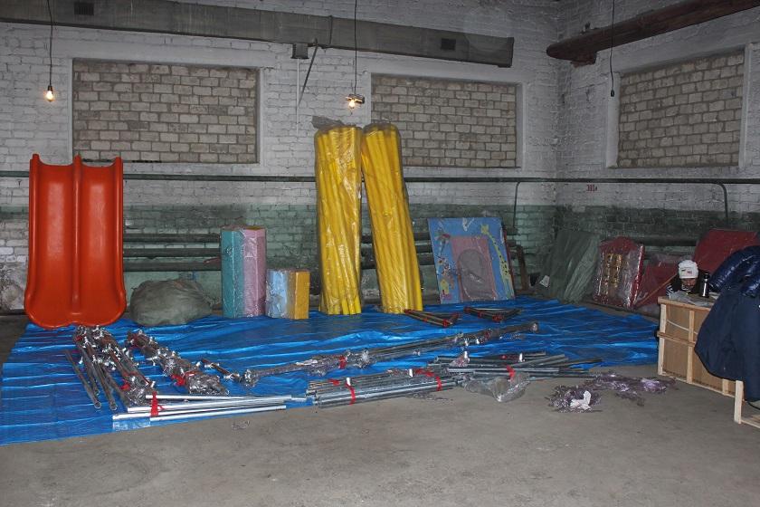 Подготовка площадки для игрового лабиринта